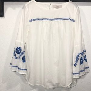 LOFT • Bell Sleeve Blouse